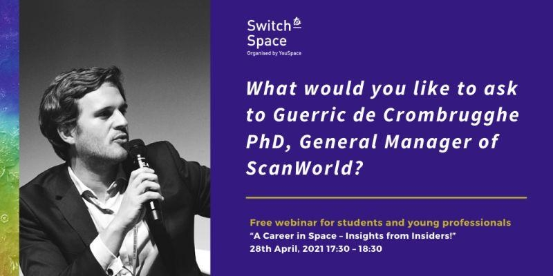 Switch to Space webinar dedicated to Students and Young Professionals.
