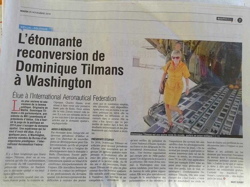 L'étonnante reconversion de Dominique à Washington - presse